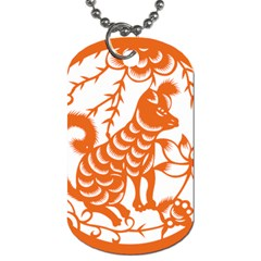 Chinese Zodiac Dog Dog Tag (two Sides)