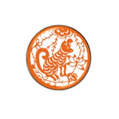 Chinese Zodiac Dog Hat Clip Ball Marker (4 pack)