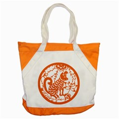 Chinese Zodiac Dog Accent Tote Bag