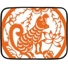 Chinese Zodiac Dog Fleece Blanket (Mini)