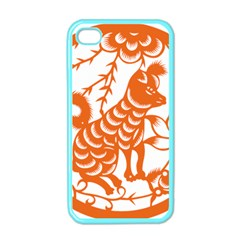 Chinese Zodiac Dog Apple iPhone 4 Case (Color)