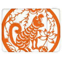 Chinese Zodiac Dog Samsung Galaxy Tab 7  P1000 Flip Case
