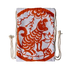 Chinese Zodiac Dog Drawstring Bag (Small)