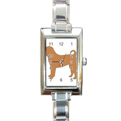 Chinese Shar Pei Silo Color Rectangle Italian Charm Watch