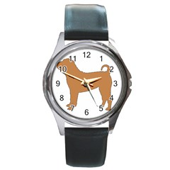 Chinese Shar Pei Silo Color Round Metal Watch