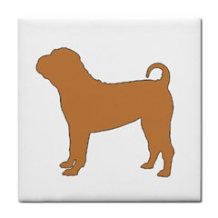 Chinese Shar Pei Silo Color Tile Coasters