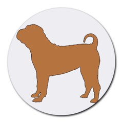 Chinese Shar Pei Silo Color Round Mousepads