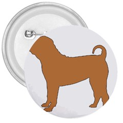 Chinese Shar Pei Silo Color 3  Buttons