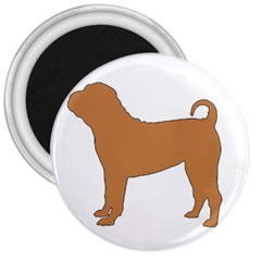 Chinese Shar Pei Silo Color 3  Magnets