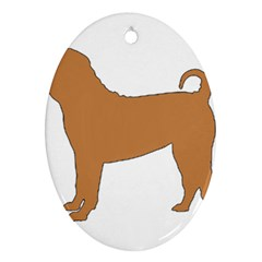 Chinese Shar Pei Silo Color Ornament (Oval)