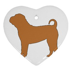 Chinese Shar Pei Silo Color Ornament (Heart)