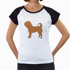 Chinese Shar Pei Silo Color Women s Cap Sleeve T