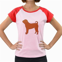 Chinese Shar Pei Silo Color Women s Cap Sleeve T-Shirt