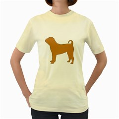 Chinese Shar Pei Silo Color Women s Yellow T-Shirt