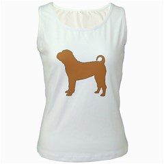 Chinese Shar Pei Silo Color Women s White Tank Top