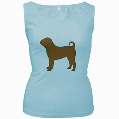 Chinese Shar Pei Silo Color Women s Baby Blue Tank Top