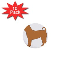 Chinese Shar Pei Silo Color 1  Mini Buttons (10 pack)