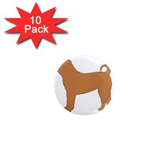 Chinese Shar Pei Silo Color 1  Mini Magnet (10 pack)