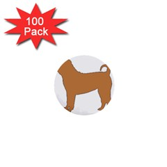 Chinese Shar Pei Silo Color 1  Mini Buttons (100 pack)