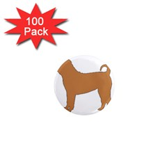 Chinese Shar Pei Silo Color 1  Mini Magnets (100 pack)