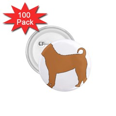 Chinese Shar Pei Silo Color 1.75  Buttons (100 pack)