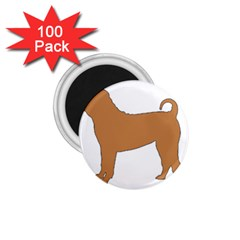 Chinese Shar Pei Silo Color 1.75  Magnets (100 pack)