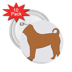 Chinese Shar Pei Silo Color 2.25  Buttons (10 pack)