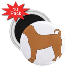 Chinese Shar Pei Silo Color 2.25  Magnets (10 pack)