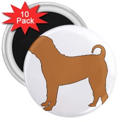 Chinese Shar Pei Silo Color 3  Magnets (10 pack)