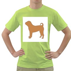 Chinese Shar Pei Silo Color Green T-Shirt