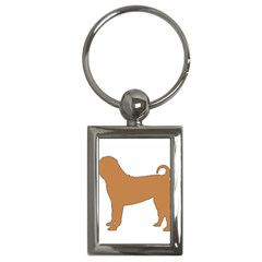 Chinese Shar Pei Silo Color Key Chains (Rectangle)