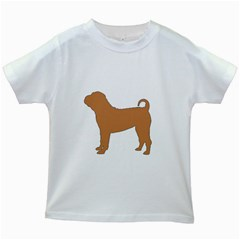 Chinese Shar Pei Silo Color Kids White T-Shirts