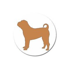 Chinese Shar Pei Silo Color Magnet 3  (Round)
