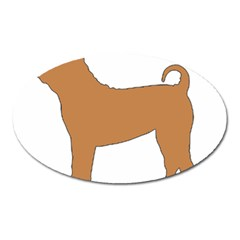 Chinese Shar Pei Silo Color Oval Magnet