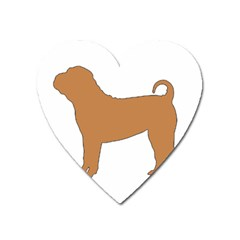 Chinese Shar Pei Silo Color Heart Magnet