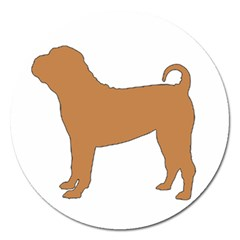 Chinese Shar Pei Silo Color Magnet 5  (Round)