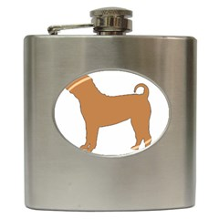 Chinese Shar Pei Silo Color Hip Flask (6 oz)