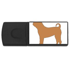 Chinese Shar Pei Silo Color USB Flash Drive Rectangular (2 GB)