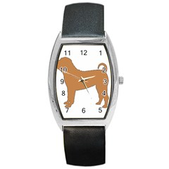 Chinese Shar Pei Silo Color Barrel Style Metal Watch