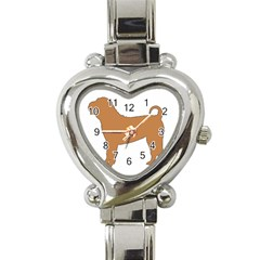 Chinese Shar Pei Silo Color Heart Italian Charm Watch