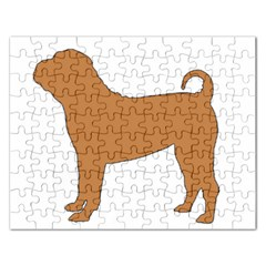 Chinese Shar Pei Silo Color Rectangular Jigsaw Puzzl