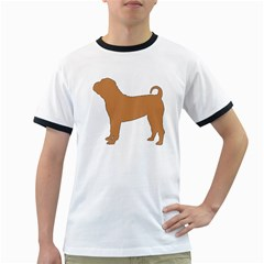 Chinese Shar Pei Silo Color Ringer T-Shirts