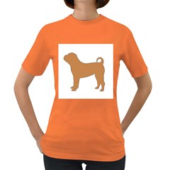 Chinese Shar Pei Silo Color Women s Dark T-Shirt