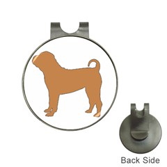 Chinese Shar Pei Silo Color Hat Clips with Golf Markers