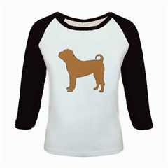 Chinese Shar Pei Silo Color Kids Baseball Jerseys
