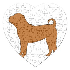 Chinese Shar Pei Silo Color Jigsaw Puzzle (Heart)