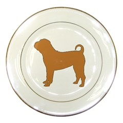 Chinese Shar Pei Silo Color Porcelain Plates