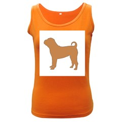 Chinese Shar Pei Silo Color Women s Dark Tank Top