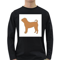 Chinese Shar Pei Silo Color Long Sleeve Dark T-Shirts