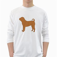 Chinese Shar Pei Silo Color White Long Sleeve T-Shirts
